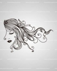 Adesivo de Beleza Cabelos Encanto by Arte na Cara!