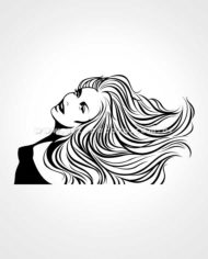Adesivo de Beleza Mulher Charme Infinito by Arte na Cara!
