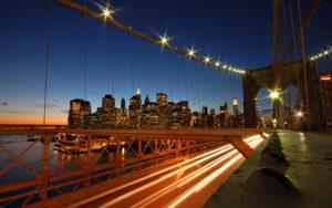 Hora do Rush na Ponte do Brooklyn