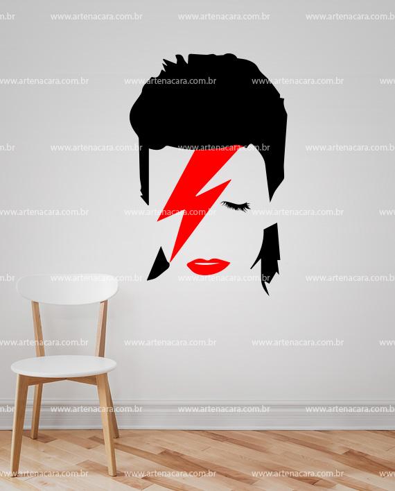 Adesivo Decorativo de Parede David Bowie Vermelho Parede