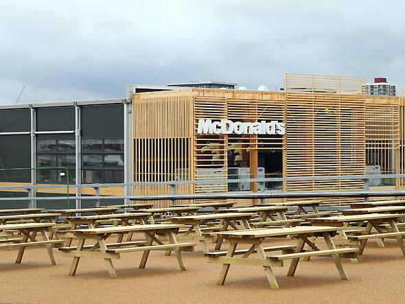 McDonald's constrói a maior loja do mundo nas Olimpíadas de Londres