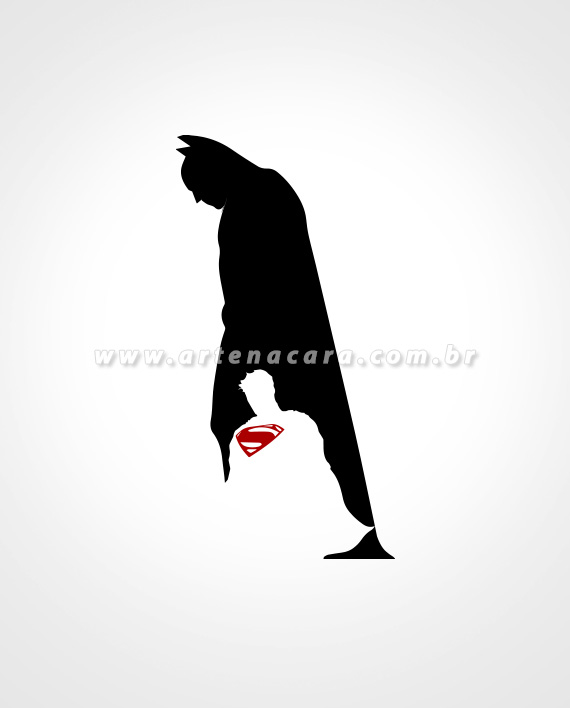 Adesivo Batman x Superman