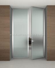 Adesivo jateado porta de vidro